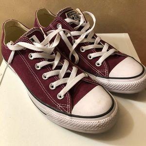 Maroon Converse, barely worn